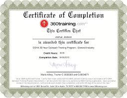 1910 osha certificate