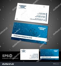 blue white grunge business card template stock vector 90176953