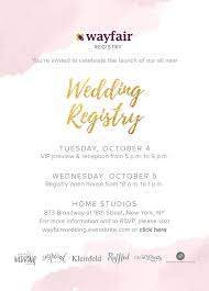 wayfair wedding registry join 4 photography for the wayfair nyc wedding registry