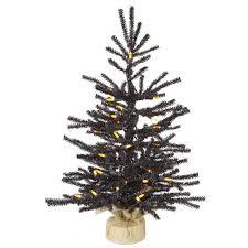 2 x 15 pre lit black pistol pine artificial tree in