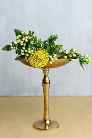 Copper Pedestal Compote Vases And Pedestal Bowls