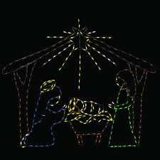 Lighted Halloween Buckets 60 In Pro Line Led Wire Decor Nativity Scene 96568 Mp1 The Home