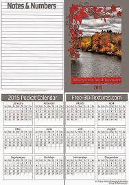 photography blography 2015 pocket calendar templates single and