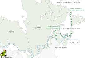 Eastern Canada Map by Eastern Continental Trail