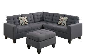 Sectional Couch With Ottoman by Amazon Com Poundex F6935 Bobkona Norton Linen Like 4 Piece
