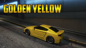 gta 5 online new golden yellow modded crew colour youtube