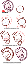 how to draw cute baby chibi mew from pokemon easy step by step
