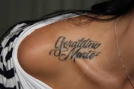 Tattoo Design Ideas For Names Upper Shoulder Name Tattoo Ideas Tattoo Designs Tattoo And Bone