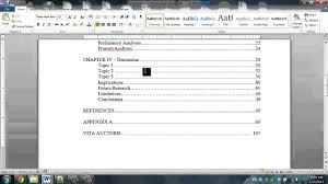 Correct Table Setting by Dissertation Help How To Format Your Table Of Contents Youtube