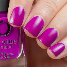 purple nail polish touch me not by heroine nyc heroine nyc