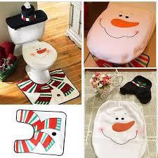3pcs christmas snowman bathroom set u2013 smusha