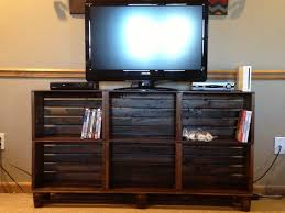How To Build Wood Tv Stands Tv Stand Made From Crates Matches The Coffee Table For The Home