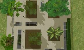 mod the sims stacked planters house no cc