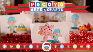 pocoyo arts u0026 crafts christmas cards and ornaments ep 8 youtube