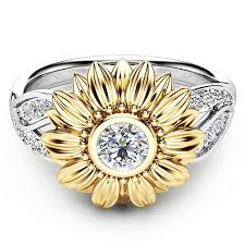 gold cute rings images Cute gold sunflower ring censtore jpg