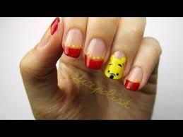cute winnie pooh nails nail art disney