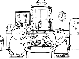 free coloring pages peppa pig coloring pages lunch family
