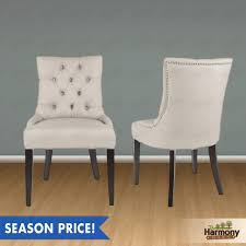 grey tufted chair set of 2 dining room furniture furniture world