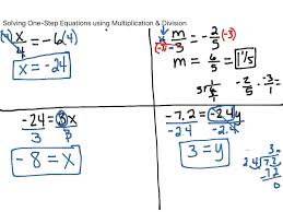 Map Equation Showme Solving Two Step Equation With Multiplication And Division