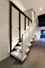 stair case frosted glass staircase design interior design ideas
