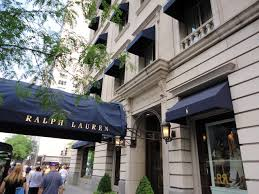 Awning Place Stunning Navy Awnings Outside The World U0027s Largest Ralph Lauren