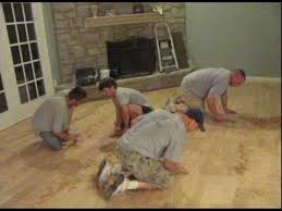 distressing hardwood floor avi