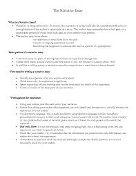 writing a good narrative essay resume examples good narrative