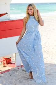 baby blue floral halter neck maxi dress maxi dresses u2013 saved by