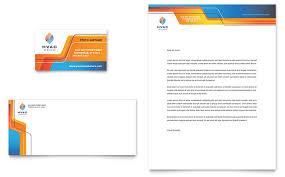 Business Card And Letterhead Hvac Business Card U0026 Letterhead Template Design