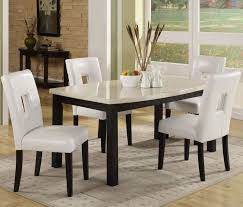 ceramic top dining room tables kitchen grey modern rugs white fabric dining chairs granite top