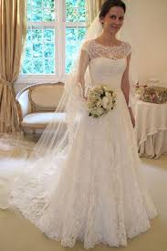 bridal gowns cap sleeve lace a line wedding dresses 2017 custom wedding