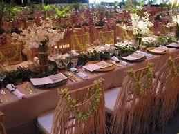 island themed wedding hawaiian themed table scape floral hawaiian