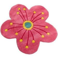 beauty accessories freckles flower shaped wool rug pink flower