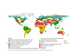 World Climate Map student climate data biomes