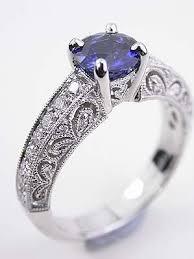 filigree engagement ring filigree engagement ring with blue sapphire rg 1747aa filigree