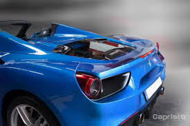 ferrari custom custom ferrari 488 spider hood by capristo lets you see the engine