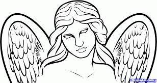simple angel drawings