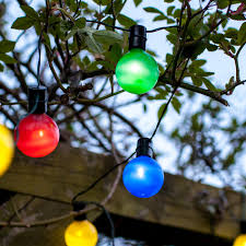 String Lights Uk by 16 Multi Coloured Led Solar Party Lights Lights4fun Co Uk