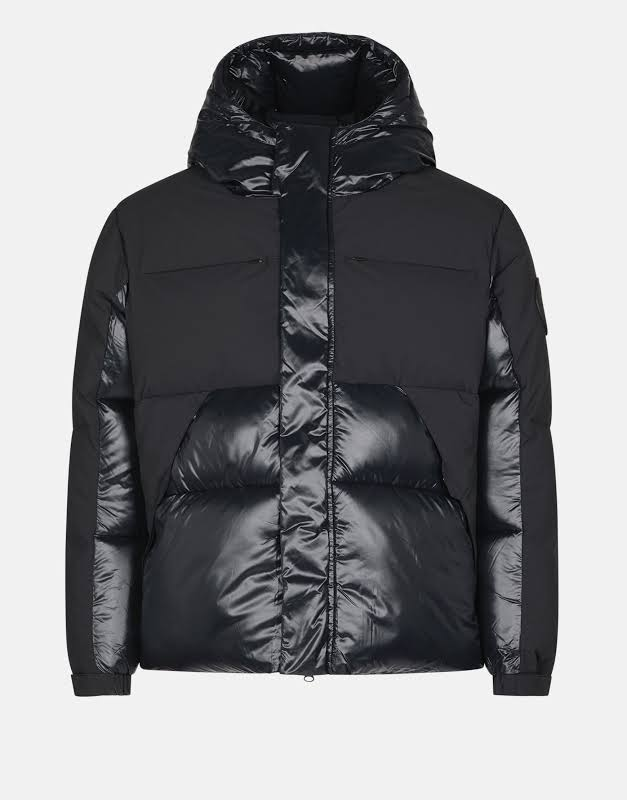 Save The Duck Luma Hooded Puffer Black/Black Unisex Jacket D3790U-LUMA9-01 Medium