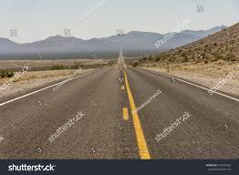 Asphalt Road Background Desert Asphalt Yellow Lines Stock Photo 431549083