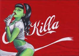 coke halloween horror nights coca killa zombie pin up pin up girls horror pinterest