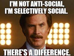 Funny Who Am I Memes - i am not anti social i am selectively social funny meme picture