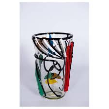 Italian Vase Italian Vase In Murano Glass Multi Color Picasso Style Cenedese