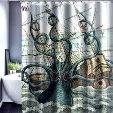 thomas paul octopus shower curtain uk bathroom ideas vintage squid