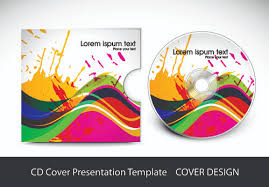 cd cover presentation vector template material 03 vector cover