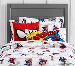 Spiderman Comforter Set Full Organic Spider Man Duvet Cover Pottery Barn Kids