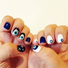 one funny rolling eyes nail decoration beauty life