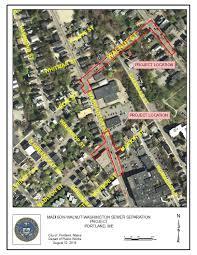 Map Of Portland Me by Madison Walnut Washington Sewer Separation Project Portland Me