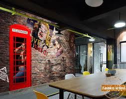 chambre marilyn personnalisé 3d cabine téléphonique de papier peint vintage
