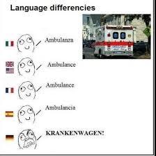 Ambulance Meme - language differencies ambulanza ambulance ambulance ambulancia